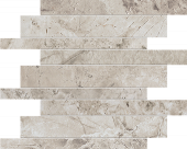Native Collection North Granite stone-look porcelain tile in brick mosaic from Atlas Concorde USA - sample