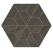 Outland Dark Multi-Hex Mosaic porcelain tile from Atlas Concorde USA - thumbnail