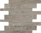 Haven Collection Lead wood-look porcelain tile in brick mosaic pattern from Atlas Concorde USA - sample