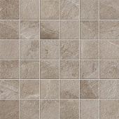 Elegant 2x2 mosaic grid-look with Ridge Greige porcelain tile from Atlas Concorde USA-sample