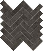 Fray Collection Black Herringbone Mosaic from Atlas Concorde USA - thumbnail