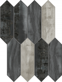 Forge Collection Dark Extend Mosaic pattern Mood porcelain tile from Atlas Concorde USA - sample