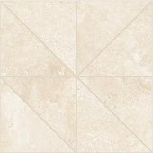 Shore Crest travertine-inspired porcelain tile in oblik mosaic from Atlas Concorde USA- sample