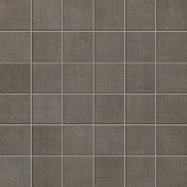 Fray Collection Smoke fabric-look porcelain tile in 2x2 mosaic from Atlas Concorde USA - sample