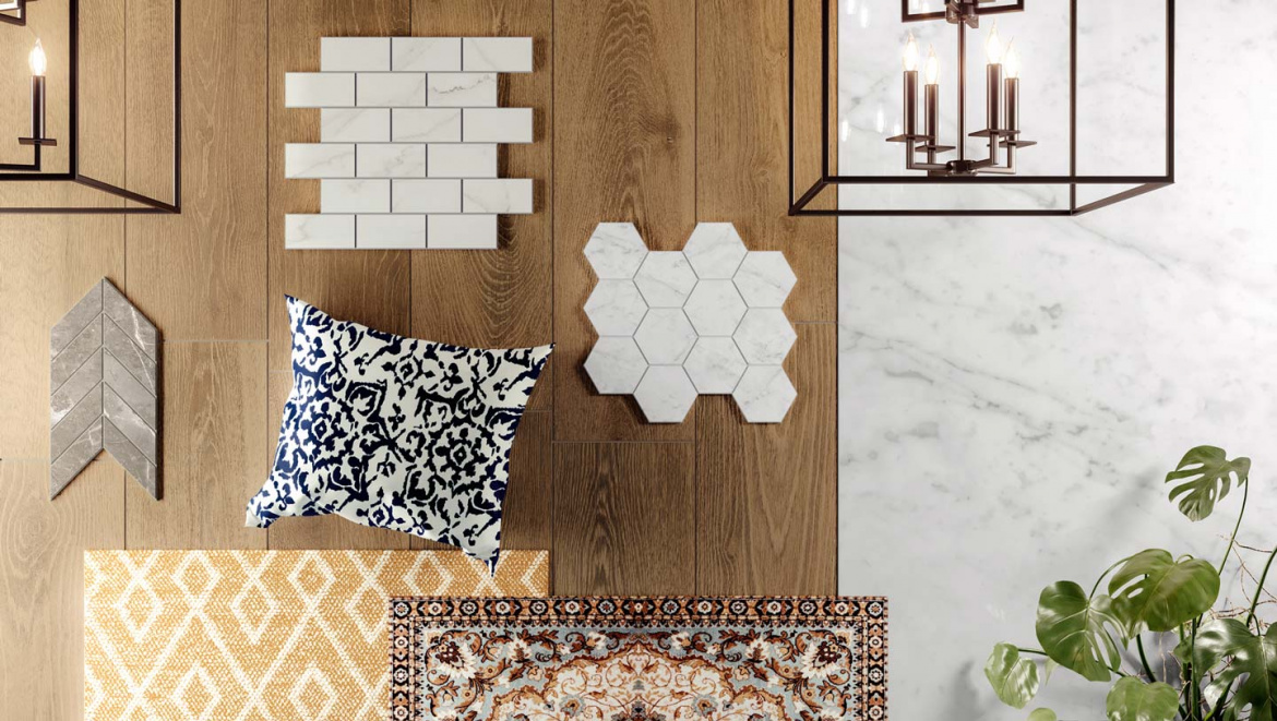Traditional moodboard presented by Atlas Concorde USA