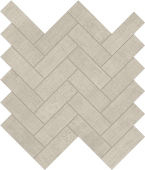 Fray Pearl Herringbone Mosaic porcelain tile from Atlas Concorde USA - thumbnail