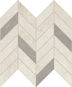 Cove Breeze chalk-look porcelain tile in dart pattern from Atlas Concorde USA - sample