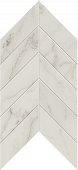 Liberty Collection Calacatta Centennial marble-look porcelain tile in chevron pattern from Atlas Concorde USA - Sample