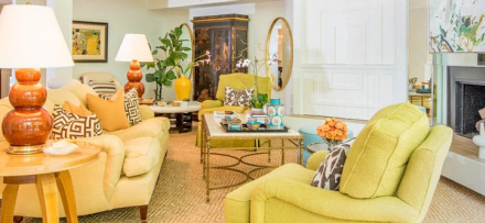 Living Room designed by Laurie Smith featured on the Atlas Concorde USA blog