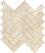 Fray Ivory Herringbone Mosaic porcelain tile from Atlas Concorde USA - thumbnail