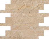 Native Collection South Limestone stone-look porcelain tile in brick mosaic from Atlas Concorde USA - sample
