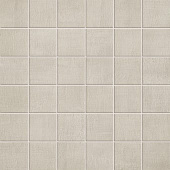 Fray Collection Pearl fabric-look porcelain tile in 2x2 mosaic from Atlas Concorde USA - sample