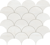 Reflex Collection Bright metal-look porcelain tile in peacock mosaic pattern from Atlas Concorde USA - sample