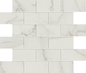 Liberty Collection Calacatta Centennial marble-look porcelain tile in mosaic pattern from Atlas Concorde USA - Sample