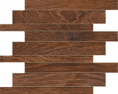 Haven Collection Barrel wood-look porcelain tile in brick mosaic pattern from Atlas Concorde USA - sample