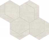 Fray White Hexmark Mosaic porcelain tile from Atlas Concorde USA - thumbnail
