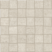 Limestone-looking Rise Cloud porcelain tile in net mosaic pattern from Atlas Concorde USA- sample