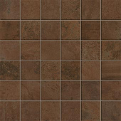 Forge Collection Iron metal-look porcelain tile in 2x2 mosaic from Atlas Concorde USA - sample