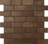 Forge Collection Iron metal-look porcelain tile in brick mosaic pattern from Atlas Concorde USA - sample