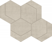 Fray Pearl Hexmark Mosaic porcelain tile from Atlas Concorde USA - thumbnail