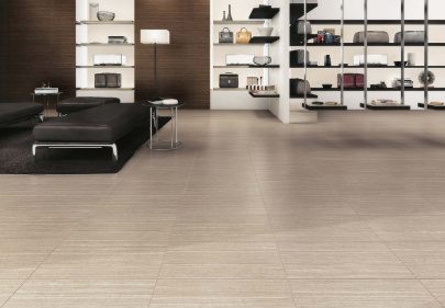 Beautiful porcelain tile shop with a travertine look from the Atlas Concorde USA Sign Collection