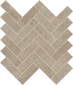 Fray Collection Taupe Herringbone Mosaic porcelain tile from Atlas Concorde USA - thumbnail
