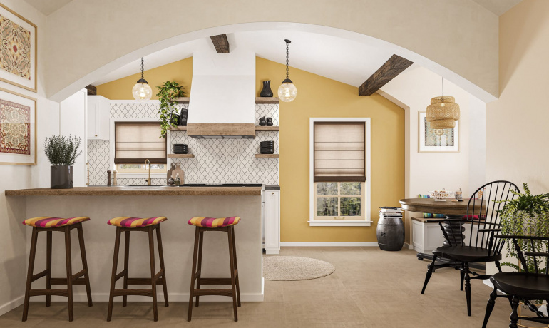 Atlas Concorde USA's Bohemian look featuring Boho and Trilogy tiles.