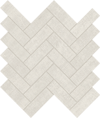 Fray White Herringbone Mosaic porcelain tile from Atlas Concorde USA - thumbnail