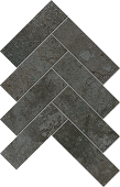 Herringbone pattern with Rift Blacktop porcelain tile from Atlas Concorde USA-sample