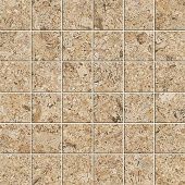 Korc Collection Sand cork-look porcelain tile in 2x2 mosaic from Atlas Concorde USA - sample