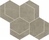 Fray Gray Hexmark Mosaic porcelain tile from Atlas Concorde USA - thumbnail