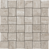 Path Collection Silver Pearl stone-look porcelain tile in mosaic pattern from Atlas Concorde USA - sample