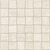 Limestone-looking Rise Dawn porcelain tile in net mosaic pattern from Atlas Concorde USA- sample