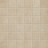 Fray Collection Sand fabric-look porcelain tile in 2x2 mosaic from Atlas Concorde USA -sample