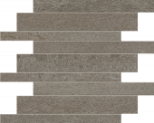 Native Collection East Bluestone stone-look porcelain tile in brick mosaic from Atlas Concorde USA - sample