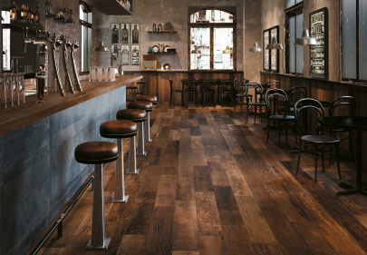 Beautiful porcelain tile with a distressed wood look from the Atlas Concorde USA Redeem Collection