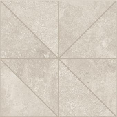 Shore Marine travertine-inspired porcelain tile in oblik mosaic from Atlas Concorde USA- sample