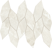 Impression Collection White marble-look porcelain tile in leaf mosaic from Atlas Concorde USA - sample