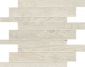 Haven Collection Whitewash wood-look porcelain tile in brick mosaic pattern from Atlas Concorde USA - sample