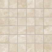 Liberty Collection Monument Cream marble-look porcelain tile in 2x2 mosaic from Atlas Concorde USA - sample
