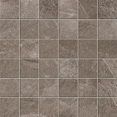 Elegant 2x2 mosaic grid-look with Ridge Anthracite porcelain tile from Atlas Concorde USA-sample