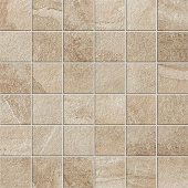 Elegant 2x2 mosaic grid-look with Ridge Beige porcelain tile from Atlas Concorde USA-sample