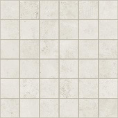 Exist Collection White cement-look porcelain tile in 2x2 mosaic from Atlas Concorde USA - sample