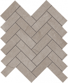 Eon Collection Corinthian Grey marble-look porcelain tile in herringbone pattern from Atlas Concorde USA - Sample
