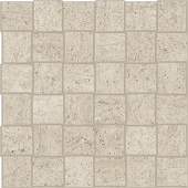 Limestone-looking Rise Dusk porcelain tile in net mosaic pattern from Atlas Concorde USA- sample