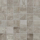 Forge Collection Aluminum metal-look porcelain tile in 2x2 mosaic from Atlas Concorde USA - sample