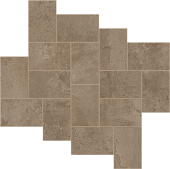 Exist Collection Taupe cement-look porcelain tile in step pattern from Atlas Concorde USA - sample
