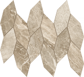Impression Collection Taupe marble-look porcelain tile in leaf mosaic from Atlas Concorde USA - sample