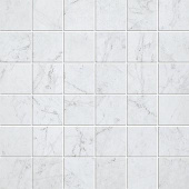 Eon Collection Carrara marble-look porcelain tile in mosaic pattern from Atlas Concorde USA - Sample