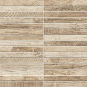 Redeem Collection Wax wood-look porcelain tile in tatami mosaic pattern from Atlas Concorde USA - sample